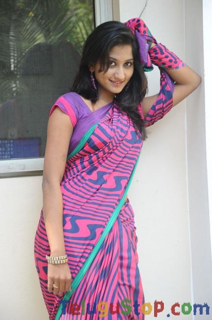 Actress Akshitha Saree Stills-Actress Akshitha Saree Stills-