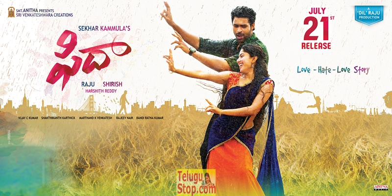 Fidaa movie posters and stills