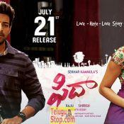 Fidaa Movie Release Date Posters