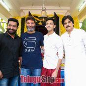 Jr NTR and Trivikram Srinivas Movie Opening Photos Still 2 ?>