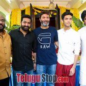 Jr NTR and Trivikram Srinivas Movie Opening Photos Pic 8 ?>