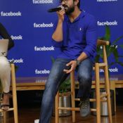 Ram Charan at Hyderabad Facebook Office