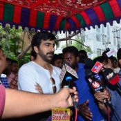 Raviteja at His Brother Bharath 11th Day Ceremony