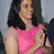 Saina Nehwal Visits Film Nagar Temple