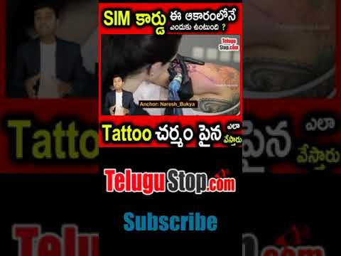What Makes Tattoos Permanent? | Why Sim Card Have Cut Shape | Telugu Mysteries Facts Badi-What Makes Tattoos Permanent Why Sim Card Have Cut Shape Telugu Mysteries Facts Badi-Telugu Trending Viral Videos-Telugu Tollywood Photo Image-TeluguStop.com