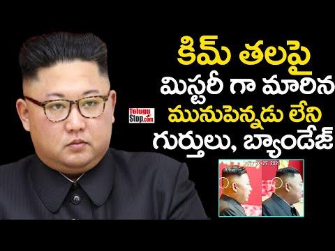 Mysterious Signs On North Korea President Kim Head | కిమ్ తలపై మునుపెన్నడు లేని గుర్తులు, బ్యాండేజ్-TeluguStop.com
