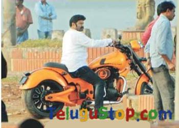 Exclusive Pic :  Balayya on 'Legend' bike-