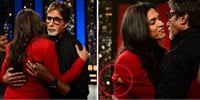 Deepika Padukone's Jacket Tear as she hugs Amitabh Bachchan Photos,Deepika Padukone's Jacket Tear as she hugs Amitabh Bachchan Images,Deepika Padukone's Jacket Tear as she hugs Amitabh Bachchan Pics