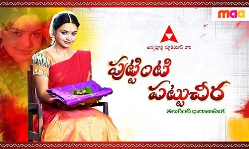Puttiniti Pattucheera -Telugu TV Channel Show/Serial Anchor,Actress,Timings