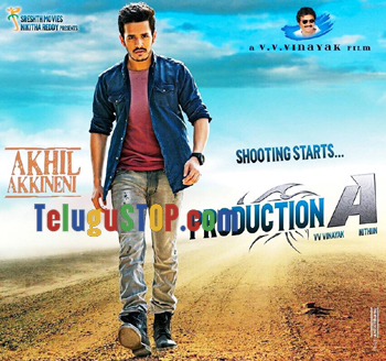 First Look: Akkineni Akhil in 'Production A'