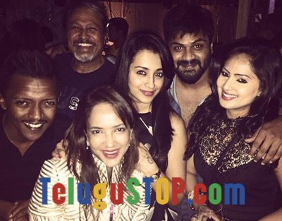 Spotted : Manchu Laxmi & Gang Partying Midnight- Telugu