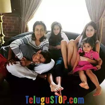 Pic Talk: Mahesh kids enjoying with Mom Photo Image Pic