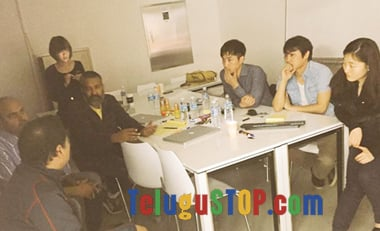 Spotted: Rajamouli war on Korean Team
