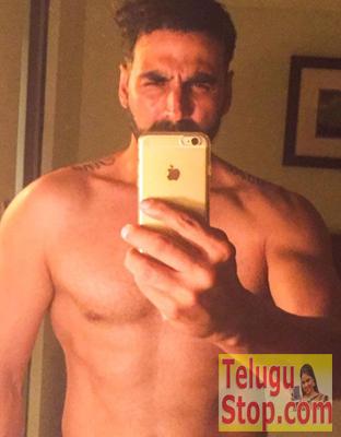 Akki shares first shirtless Selfie Photo Image Pic