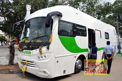 KCR expressed anger over spending Rs 5 crore on the bus Photo Image Pic