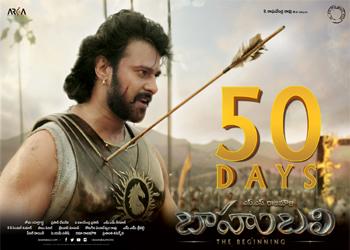 Bahubali 50 Days Posters