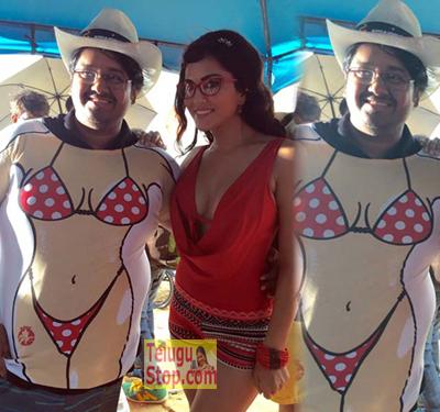 SHE Gifted bikini tees to director Photo Image Pic