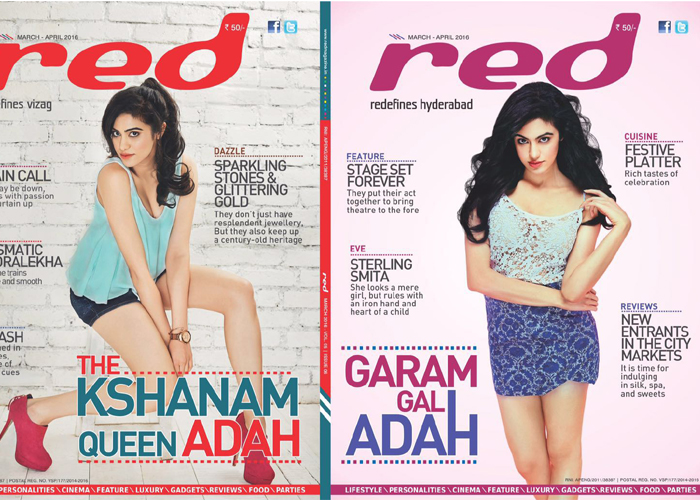 Adah Sharma On The Cover Of Red Magazine