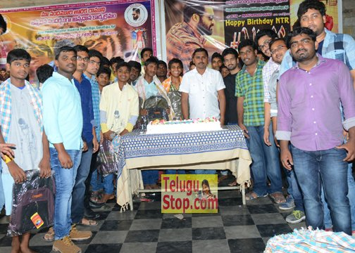 NTR Birthday Celebrations Photos, At Don Bosco School