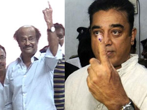 Rajinikanth-Kamal-Haasan-Cast-Votes-Tamil Nadu Polls