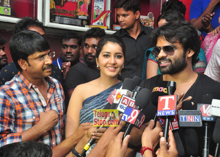 Supreme Movie Team At Rtc X Roads, Supreme Movie Team At Sandhya Theater Rtc X Roads