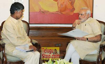 chandrababu-modi-meets pm modi in delhi requested ap special status