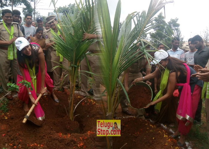 Manchu Lakshmi Haritha Haram at Sher Bashirbagh Photos