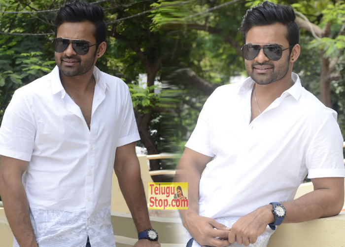 Sai Dharam Tej New Photos At Thikka Interview