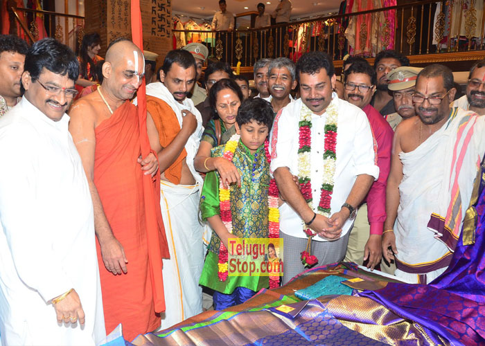 Kancheepuram Varamahalakshmi Silks Launch At Chinna Jeeyar