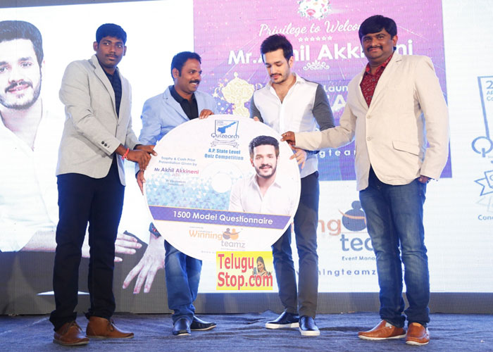 Akhil at Quizearch Trophy Launch