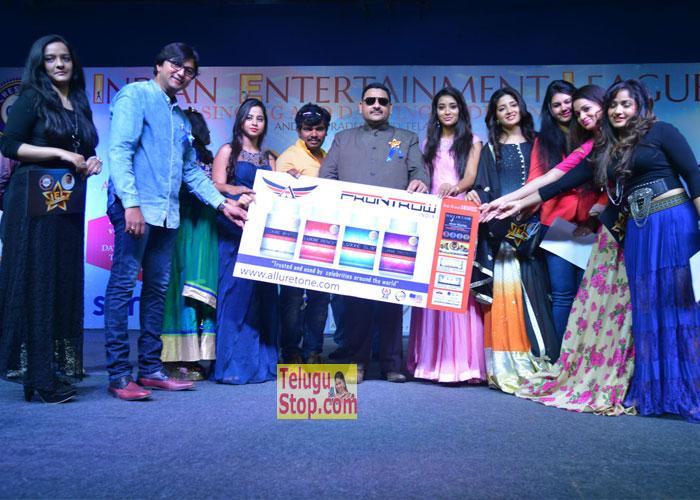 Indian Entertainment League Logo Launch Photos Madhavi Latha Poonam Kaur In Priya Reshma Rathore Download Online HD Quality