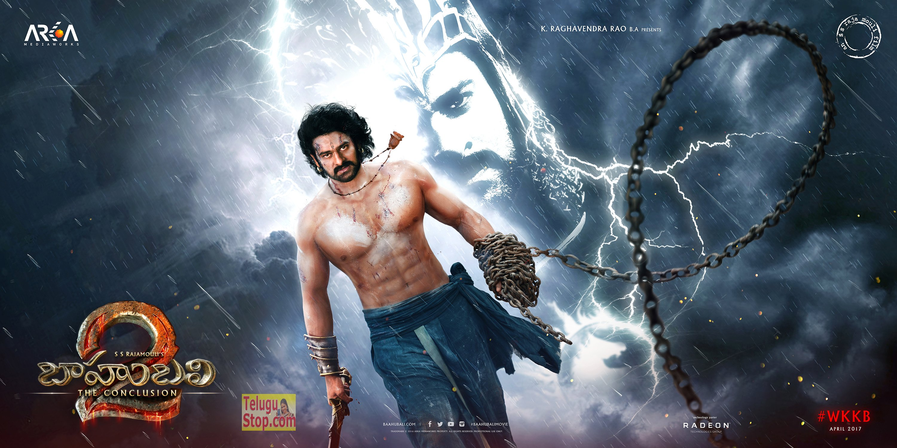Dubbing Poster Negative Response For Baahubali 2 First Look Prabhas Birthday Rajamouli Photo,Image,Pics-
