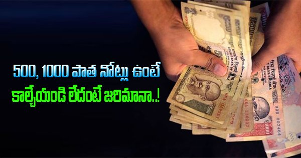 Destroy demonetised currency notes – possession will lead to penalty-