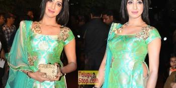 Sanjjanaa Latest Stills At Gemini TV Puraskaralu