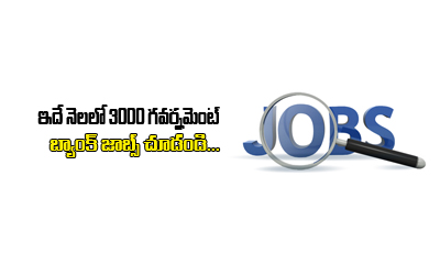 3000 New Jobs Available In Banking Sector---