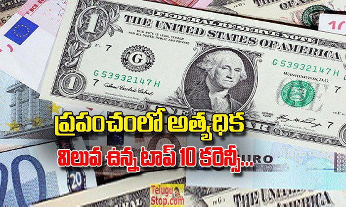 Top-10 Highest Valued Currency In The World- Telugu