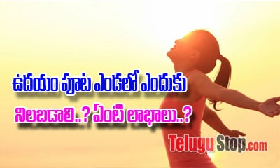 Benefits Of Taking Sunlight In The Morning- Telugu Viral News Benefits Of Taking Sunlight In The Morning---