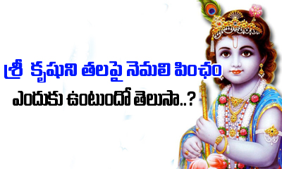 Why Lord Krishna Wears Peacock Feather On His Head---