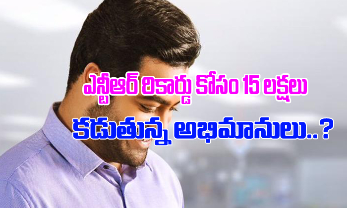 NTR Fans Investing 15 Lakhs For A Record?- Telugu