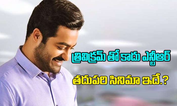 Not Trivikram's , NTR's next film is this-
