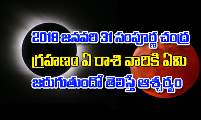 Lunar Eclipse of January 31, 2018-