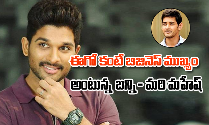 Bunny prefers business over ego – what about Mahesh ?-
