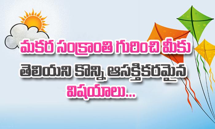 Importance Of Makar Sankranti- Telugu