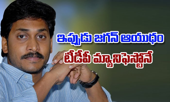Jagan Use Tdp Manifesto To Fight Against Chandrababu- Telugu