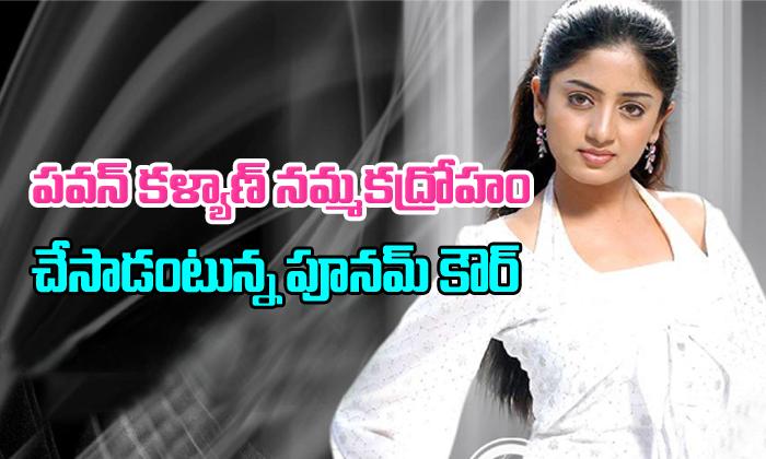 Did Poonam Kaur Say Pawan Kalyan Ditched Her?- Telugu