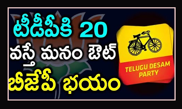 Is BJP Party SCARED of TDP Party-