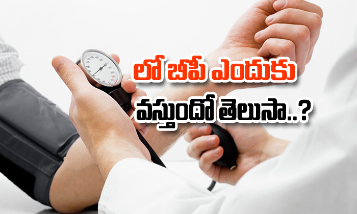 Low Blood Pressure Symptoms In Telugu- Telugu