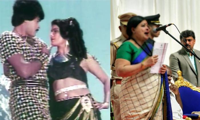 Item Girl In Chiranjeevis Movie Now Cabinet Minister In Karnatakastate--