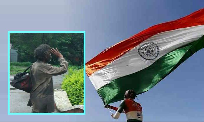 Beggar At August 15th Flag Facebook Viral Pic--Beggar At August 15th Flag Facebook Viral Pic-