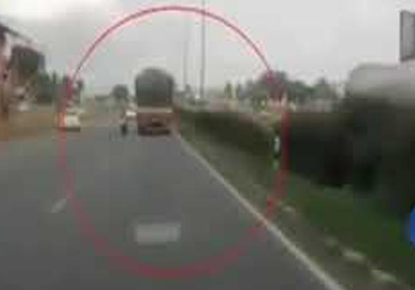Miraculous Escape For Child After Horrific Bike Mishap-